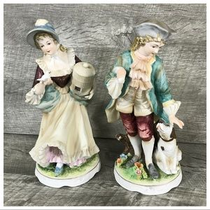 Vintage Pair Man Woman Bisque Figurines Gallery